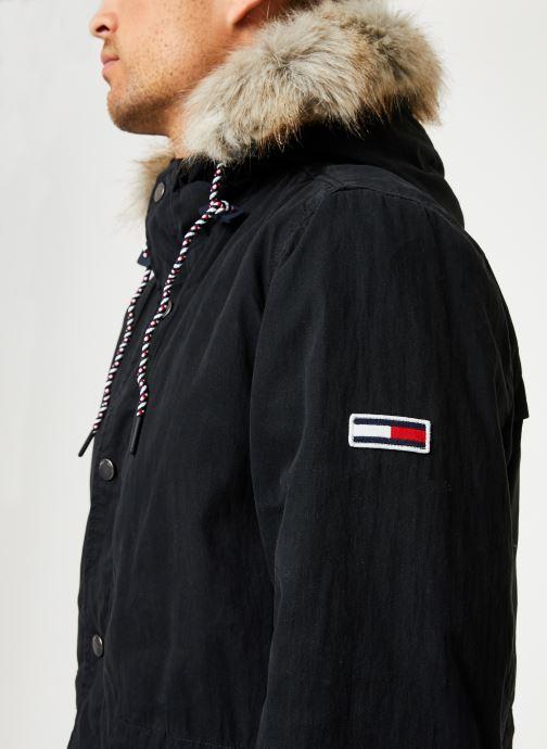 Vêtements Tommy Jeans TJM COTTON LINED PARKA Noir vue face