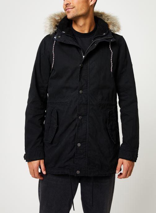 Vêtements Tommy Jeans TJM COTTON LINED PARKA Noir vue droite