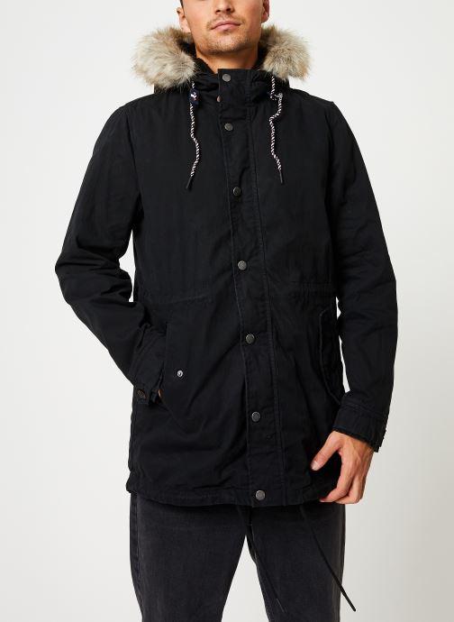 Vêtements Tommy Jeans TJM COTTON LINED PARKA Noir vue détail/paire