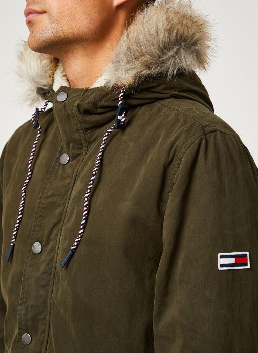 Vêtements Tommy Jeans TJM COTTON LINED PARKA Vert vue face
