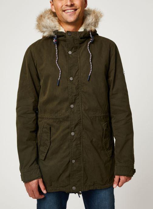 Vêtements Tommy Jeans TJM COTTON LINED PARKA Vert vue détail/paire