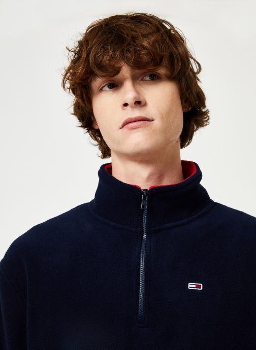 Vêtements Tommy Jeans TJM POLAR FLEECE MOCK NECK Bleu vue face