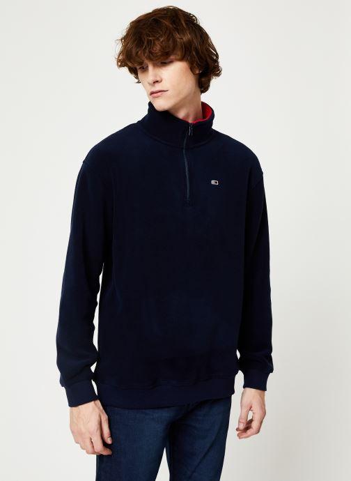 Vêtements Tommy Jeans TJM POLAR FLEECE MOCK NECK Bleu vue détail/paire