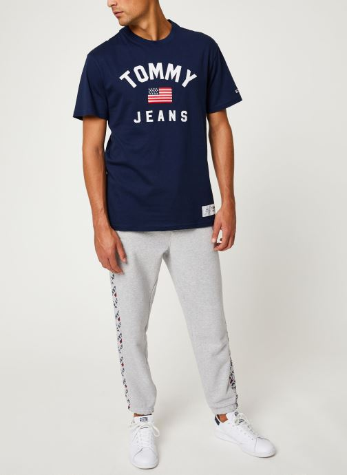 Vêtements Tommy Jeans TJM USA FLAG TEE Bleu vue bas / vue portée sac
