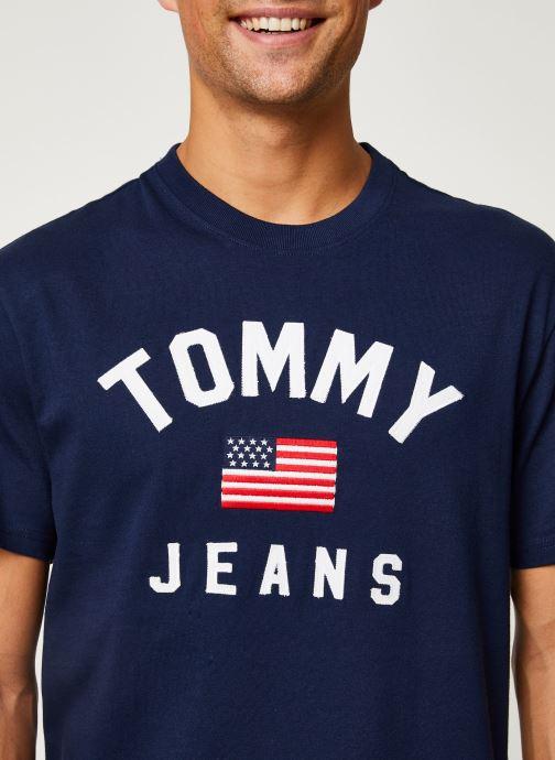 Vêtements Tommy Jeans TJM USA FLAG TEE Bleu vue face