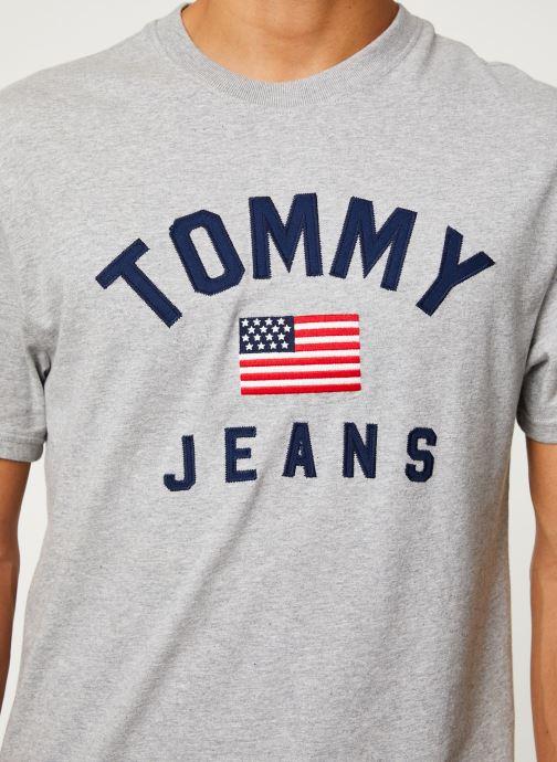 Vêtements Tommy Jeans TJM USA FLAG TEE Gris vue face