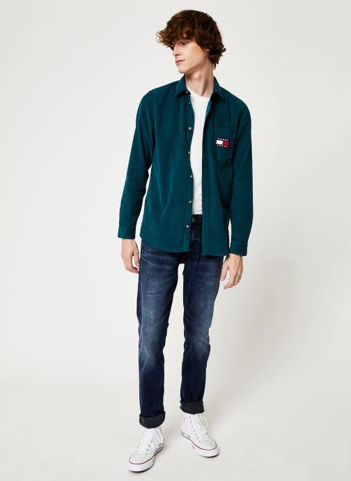 Vêtements Tommy Jeans TJM CORD SHIRT Bleu vue bas / vue portée sac