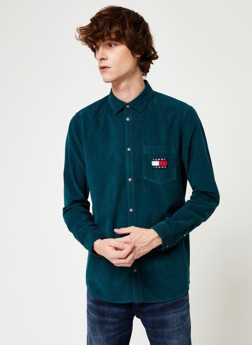 Kleding Tommy Jeans TJM CORD SHIRT Blauw rechts