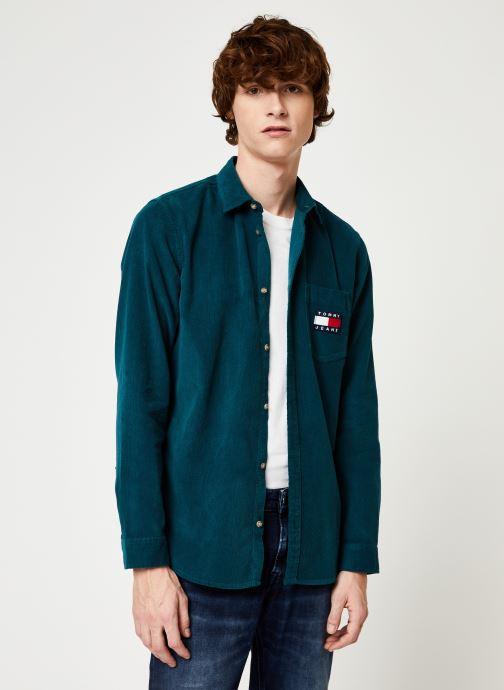 Vêtements Tommy Jeans TJM CORD SHIRT Bleu vue détail/paire