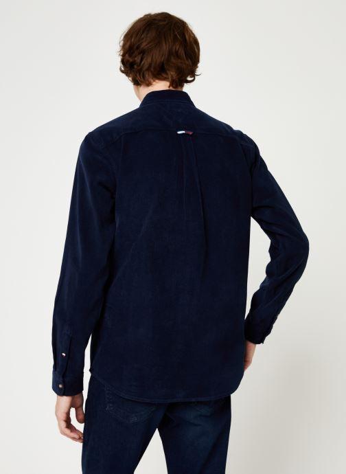 Kleding Tommy Jeans TJM CORD SHIRT Zwart model