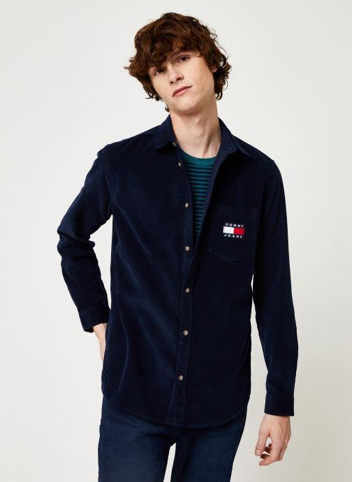 Kleding Tommy Jeans TJM CORD SHIRT Zwart detail