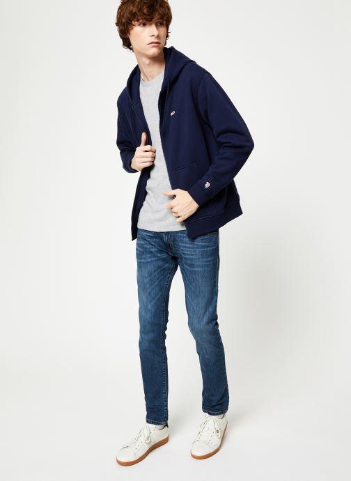 Kleding Tommy Jeans TJM TOMMY CLASSICS ZIPTHROUGH Blauw onder