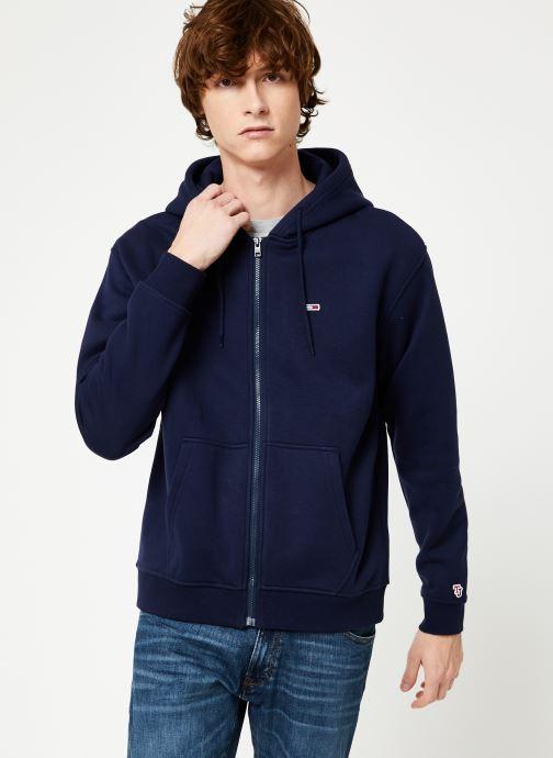 Kleding Tommy Jeans TJM TOMMY CLASSICS ZIPTHROUGH Blauw detail