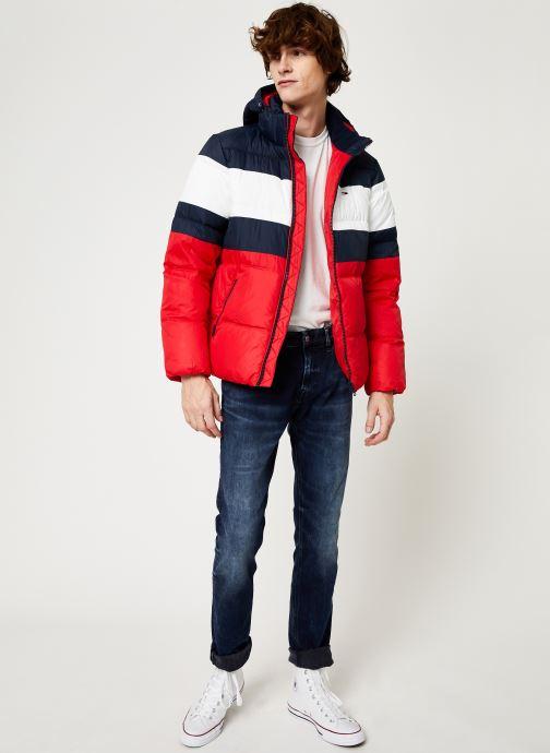 Vêtements Tommy Jeans TJM RUGBY STRIPE PUFFER JACKET Bleu vue bas / vue portée sac