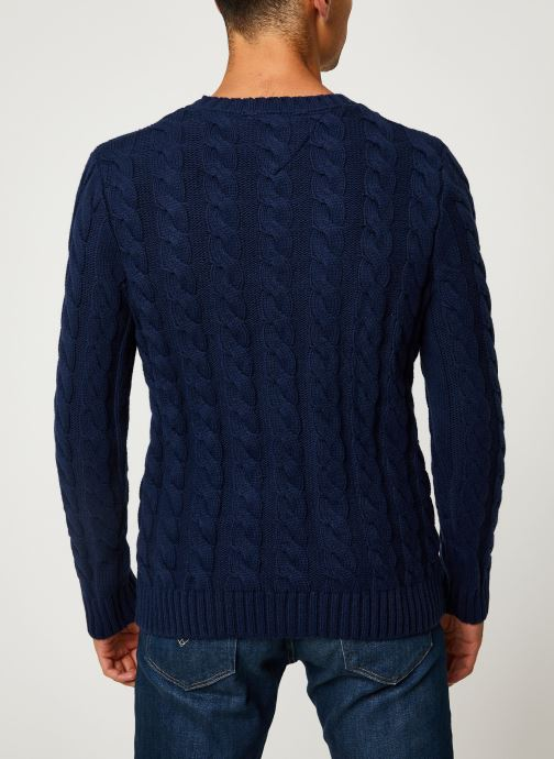 Kleding Tommy Jeans TJM ESSENTIAL CABLE SWEATER Blauw model