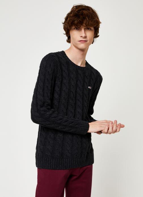 Vêtements Tommy Jeans TJM ESSENTIAL CABLE SWEATER Gris vue droite