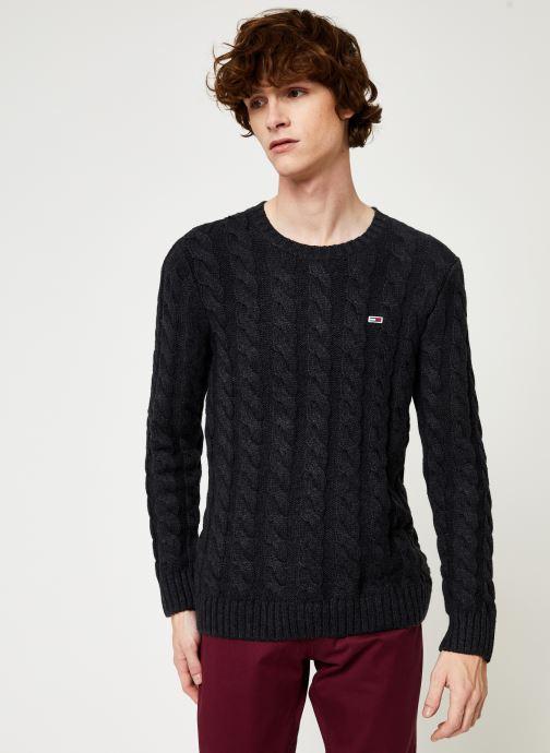 Vêtements Tommy Jeans TJM ESSENTIAL CABLE SWEATER Gris vue détail/paire