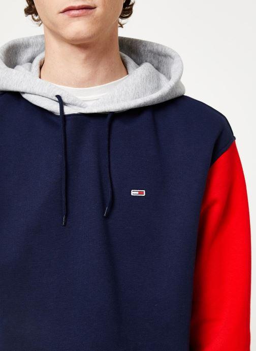 Vêtements Tommy Jeans TJM COLORBLOCK CLASSICS HOODIE Bleu vue face