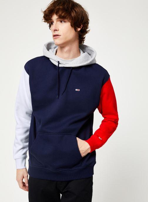 Vêtements Tommy Jeans TJM COLORBLOCK CLASSICS HOODIE Bleu vue droite