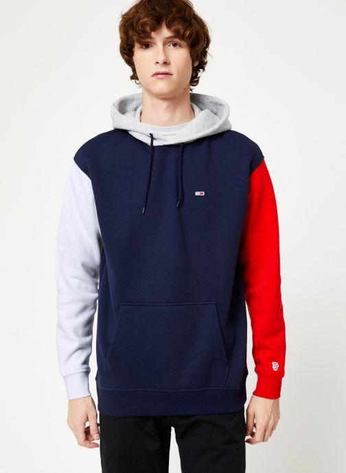 Vêtements Tommy Jeans TJM COLORBLOCK CLASSICS HOODIE Bleu vue détail/paire
