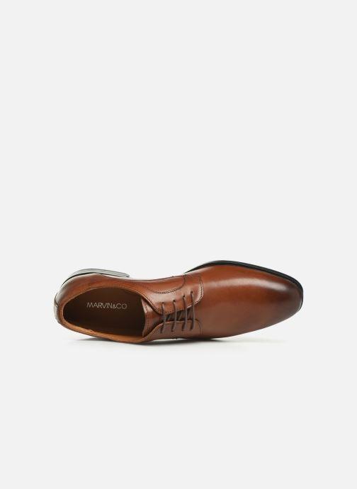 Zapatos con cordones Marvin&Co Nicolini Marrón vista lateral izquierda