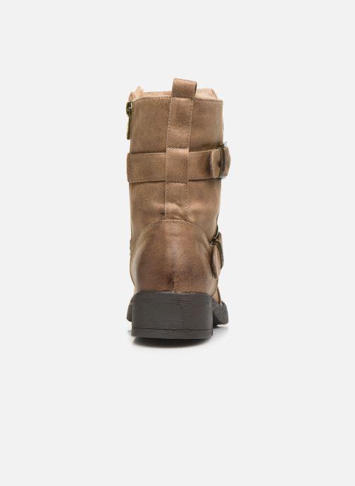 Bottines et boots MTNG WIKA Beige vue droite