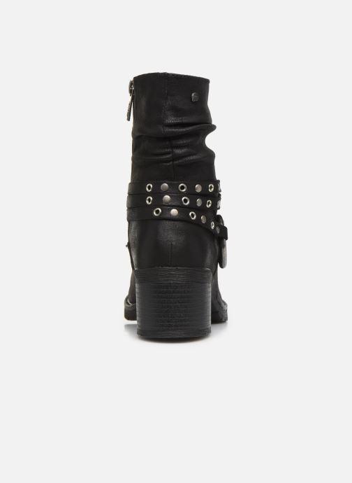Boots en enkellaarsjes MTNG REINA 58607 Zwart rechts