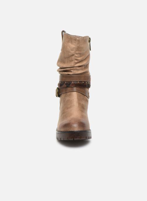 Bottines et boots MTNG GLAM Beige vue portées chaussures