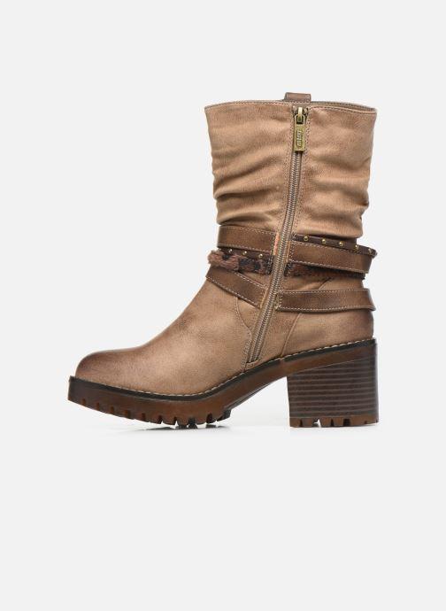 Bottines et boots MTNG GLAM Beige vue face