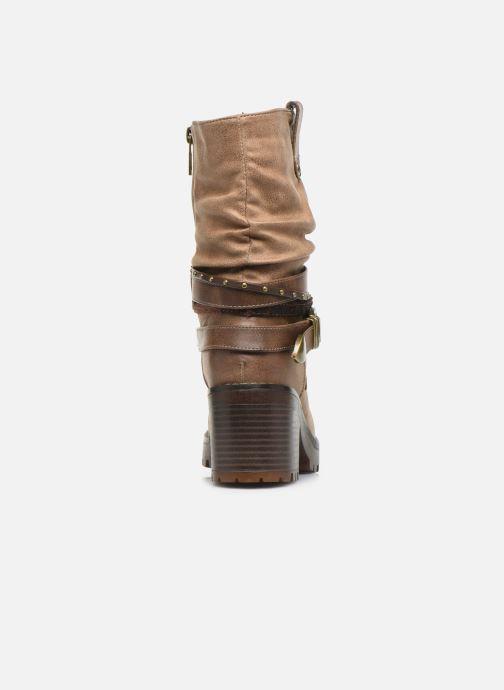 Bottines et boots MTNG GLAM Beige vue droite