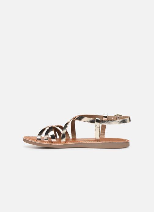 Sandales et nu-pieds L'Atelier Tropézien Carla Or et bronze vue face