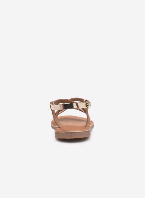 Sandales et nu-pieds L'Atelier Tropézien Carla Or et bronze vue droite