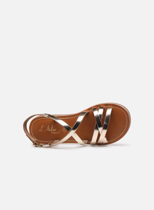 Sandales et nu-pieds L'Atelier Tropézien Carla Or et bronze vue gauche