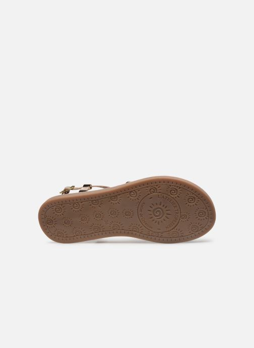 Sandales et nu-pieds L'Atelier Tropézien Carla Or et bronze vue haut