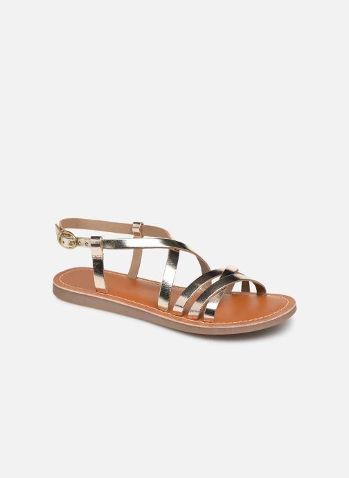 Sandales et nu-pieds L'Atelier Tropézien Carla Or et bronze vue détail/paire