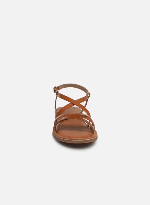 Sandales et nu-pieds L'Atelier Tropézien Carla Marron vue portées chaussures