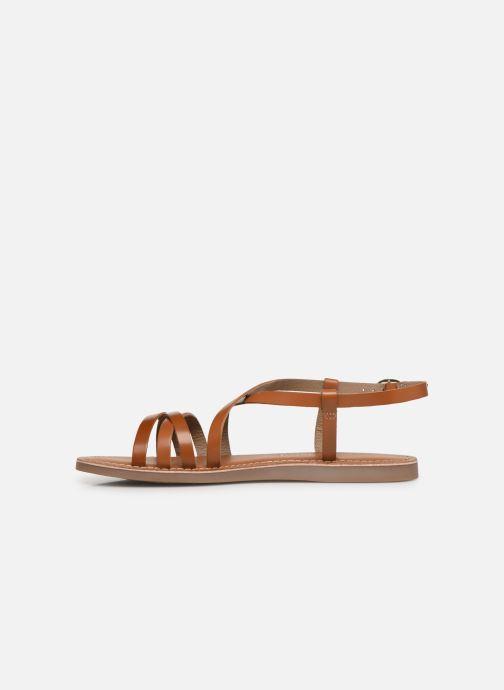 Sandalen L'Atelier Tropézien Carla braun ansicht von vorne