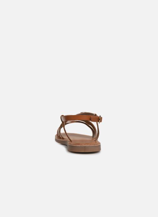Sandales et nu-pieds L'Atelier Tropézien Carla Marron vue droite
