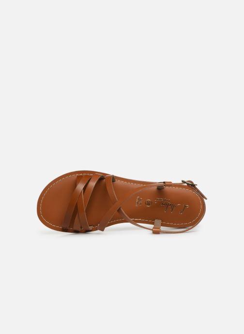 Sandales et nu-pieds L'Atelier Tropézien Carla Marron vue gauche
