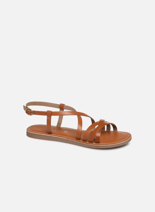 Sandales et nu-pieds L'Atelier Tropézien Carla Marron vue détail/paire