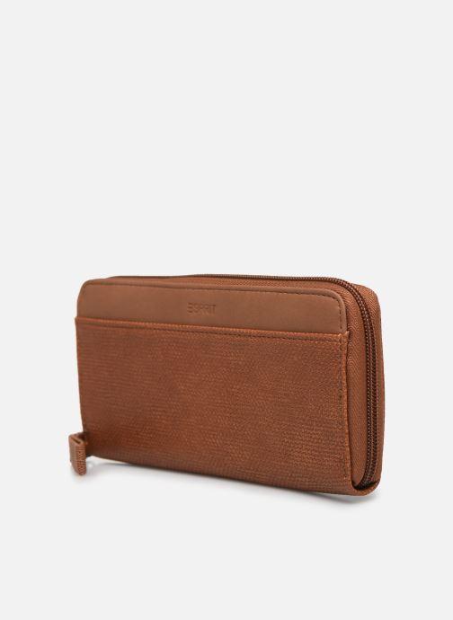 Kleine lederwaren Esprit Vivien wallet zip around Bruin model