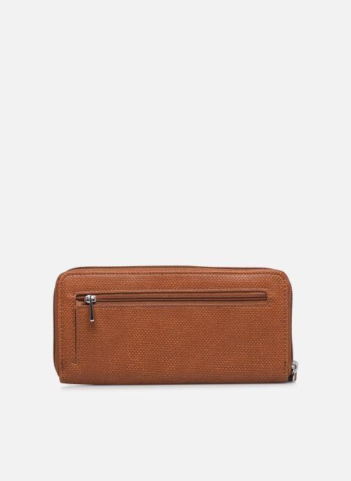 Kleine lederwaren Esprit Vivien wallet zip around Bruin voorkant