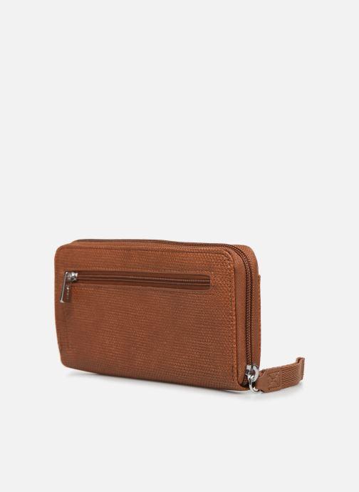 Kleine lederwaren Esprit Vivien wallet zip around Bruin rechts