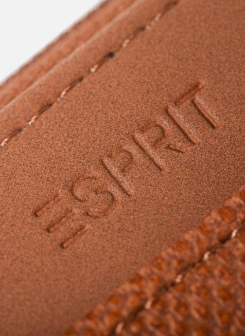 Kleine lederwaren Esprit Vivien wallet zip around Bruin links