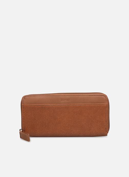 Kleine lederwaren Esprit Vivien wallet zip around Bruin detail