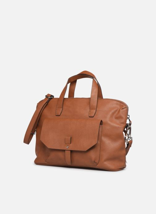 Handbags Esprit Isa working bag Brown model view