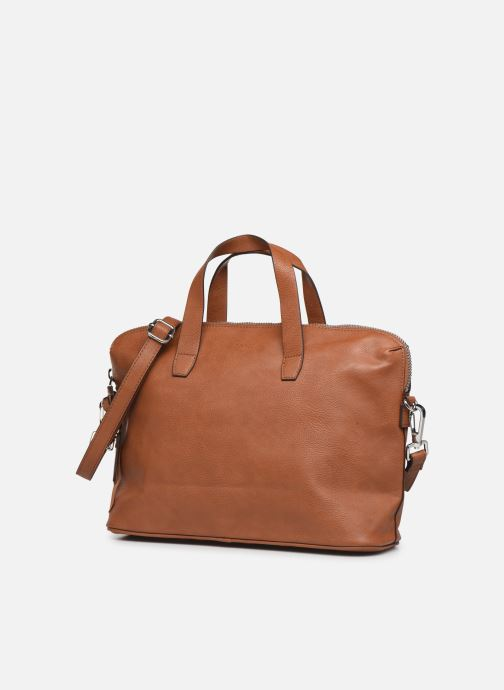 Handbags Esprit Isa working bag Brown view from the right