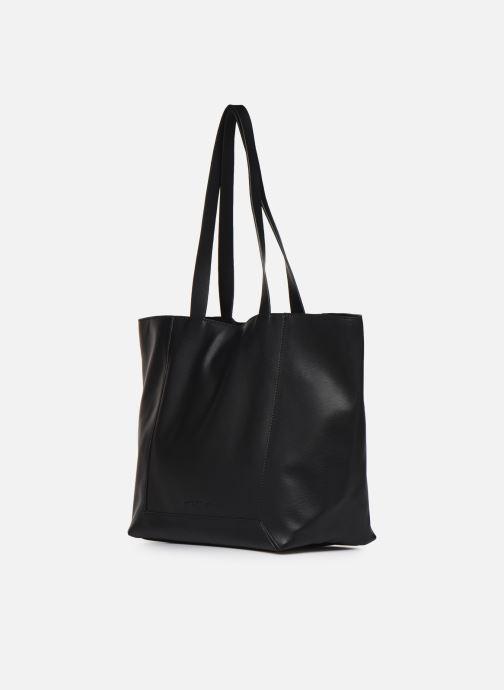 Sacs à main Esprit Vala shopper Noir vue portées chaussures