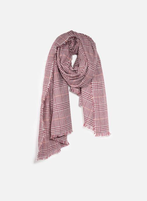 Echarpes et Foulards Esprit GlencheckScarf Rouge vue détail/paire