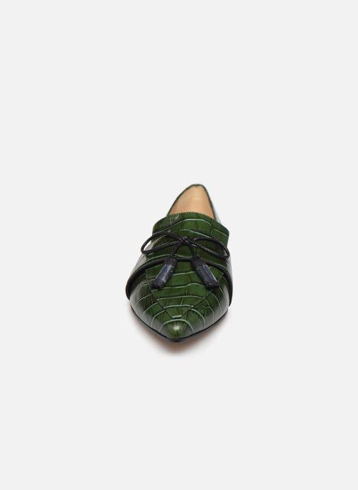 Mocassins L.K. Bennett Celina Vert vue portées chaussures